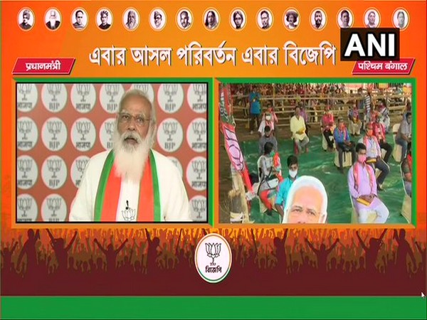 Prime Minister Narendra Modi addressing voters of Birbhum, Kolkata, Malda and Murshidabad on Friday.