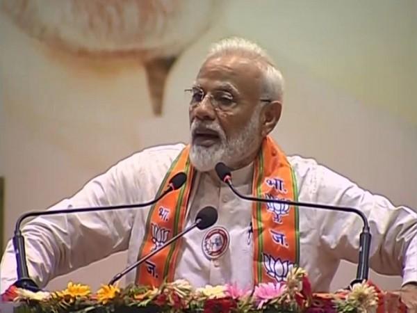 Prime Minister Narendra Modi during an event in Varanasi on Saturday. Photo/ANI