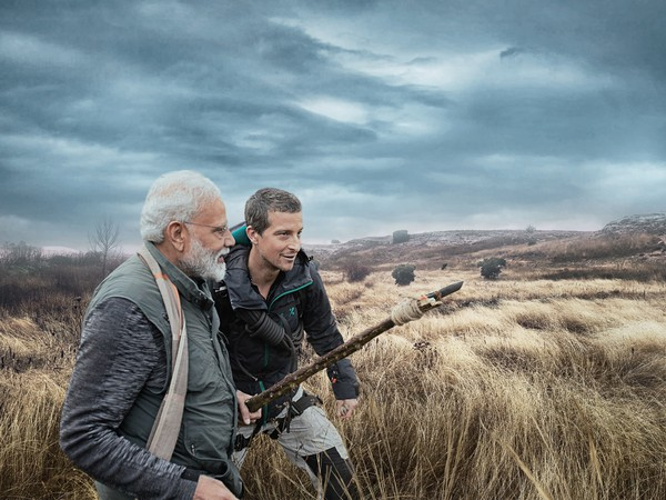 A still from the episode of  'Man Vs Wild with PM Modi and Bear Grylls (Photo source: Discovery)