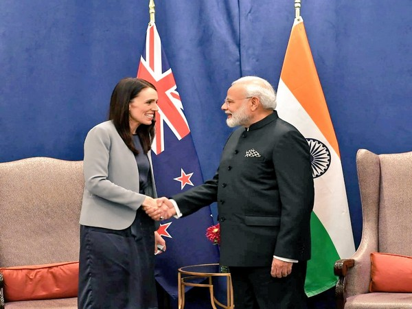 Prime Minister Narendra Modi and his New Zealand counterpart Jacinda Ardern in New York. Photo/Twitter