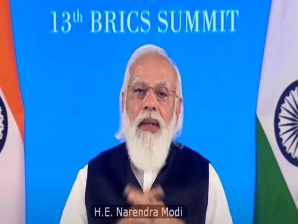 Prime Minister Narendra Modi speaking at the BRICS summit on Thursday.