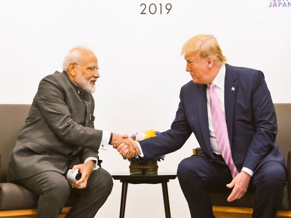 Prime Minister Narendra Modi with US President Donald Trump at G20 Summit in Osaka, Japan, on Friday. (Photo/Twitter@MEAIndia)