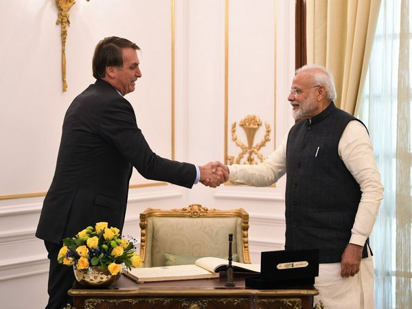 Brazilian President Jair Bolsonaro with Prime Minister Narendra Modi in New Delhi, January, 2020. [File Photo]