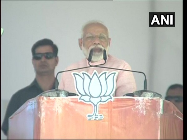 Prime Minister Narendra Modi addressing a public rally in Dehradun