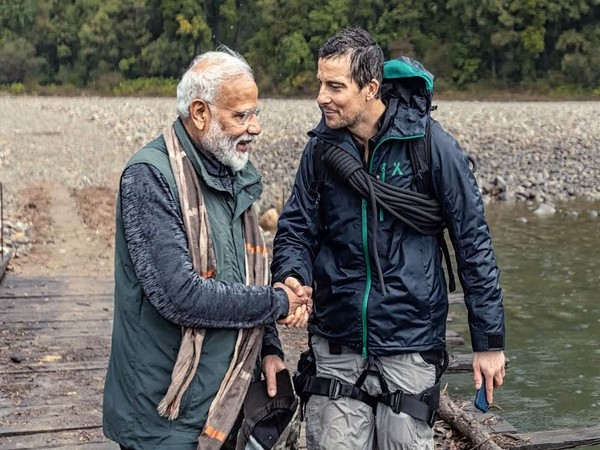 Bear Grylls and Prime Minister Narendra Modi