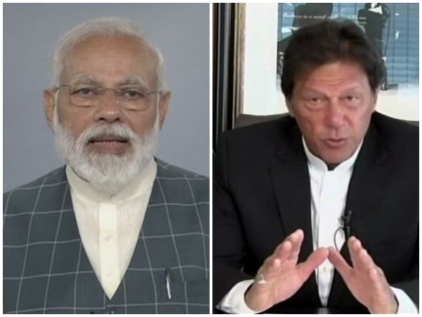 Prime Minister Narendra Modi (left) and Pakistani PM Imran Khan (right)