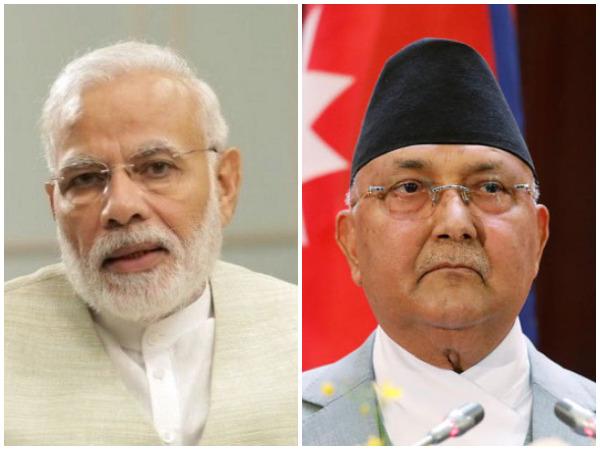 Prime Minister Narendra Modi and Nepali PM KP Sharma Oli