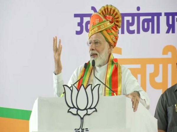 Prime Minister Narendra Modi addressing a rally in Pune