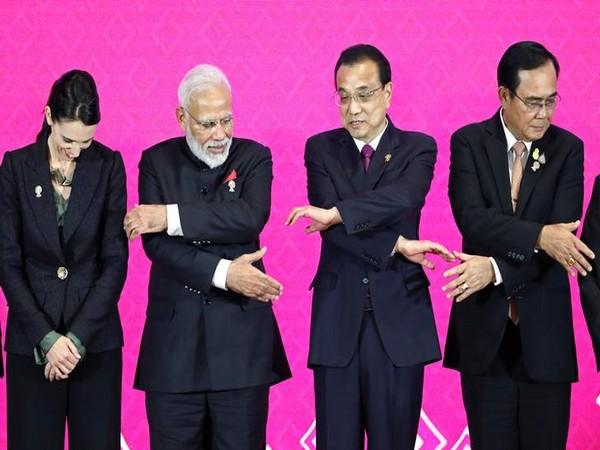 From L to R: New Zealand's Prime Minister Jacinda Ardern, PM Narendra Modi, Chinese Premier Li Keqiang and Thai PM Prayuth Chan-Ocha in Bangkok on Monday.