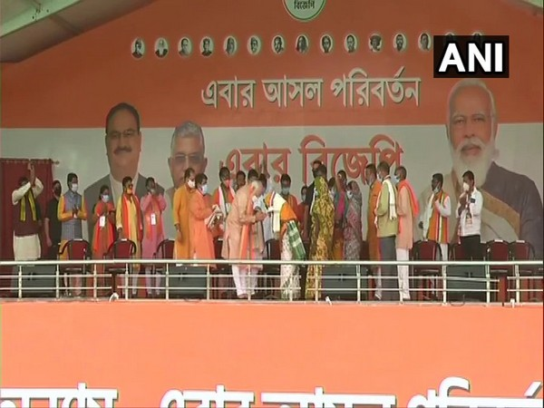 File picture of Prime Minister Narendra Modi meeting the families and relatives of BJP workers who were killed in several violent incidents in West Bengal.