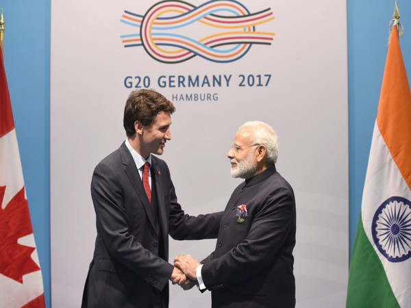 Prime Minister Narendra Modi with his Canadian counterpart Justin Trudeau. (Photo Courtesy: Modi twitter handle)