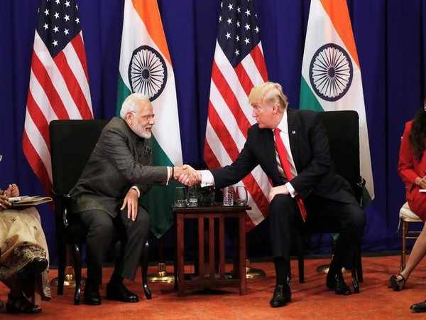 File picture of Narendra Modi with Donald Trump