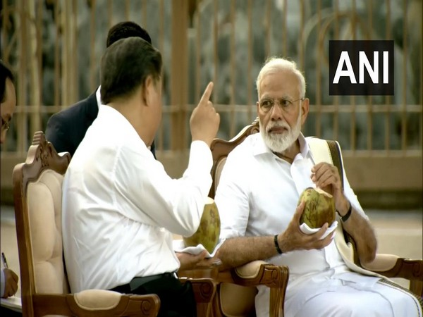 PM Modi and Xi Jinping sipped on fresh coconut water While touring the magnificent Panch Rathas complex on Friday
