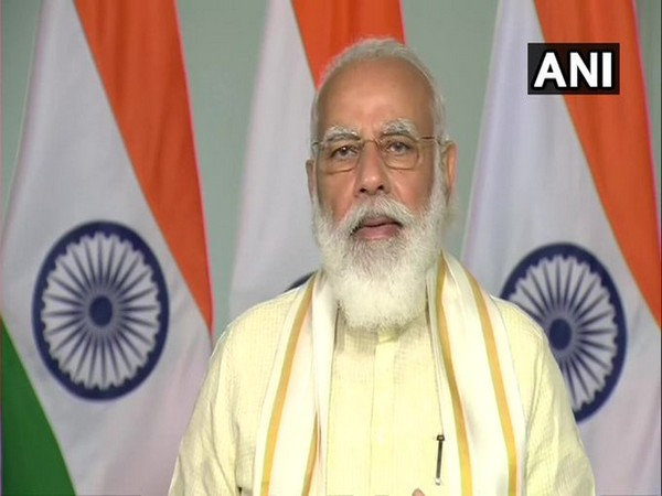 Prime Minister Narendra Modi speaks on the occassion of centenary convocation of the University of Mysore on Monday. (Photo/ANI)
