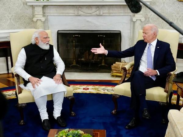 Prime Minister Narendra Modi with US Presdient Joe Biden