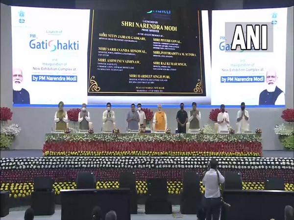 Prime Minister Narendra Modi launching GatiShakti Master Plan for multi-modal connectivity. (Photo/ ANI)
