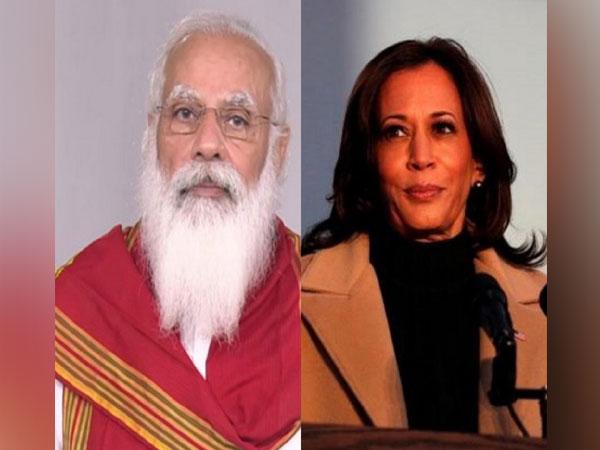 Prime Minister Narendra Modi and US vice President Kamala Harris