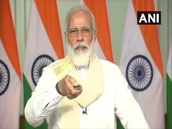 Prime Minister Narendra Modi inaugurated the submarine optical fibre cable connecting Chennai and Port Blair, via video conferencing on Monday. [Photo/ANI]