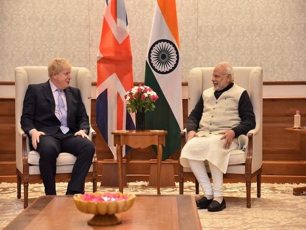 Prime Minister Narendra Modi with UK PM Boris Johnson
