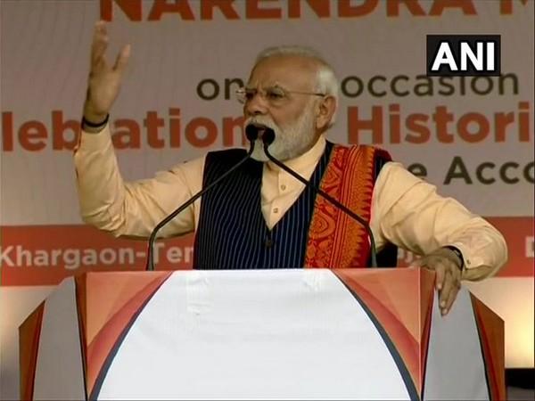 Prime Minister Narendra Modi addressing a gathering in Kokrajhar on Friday.