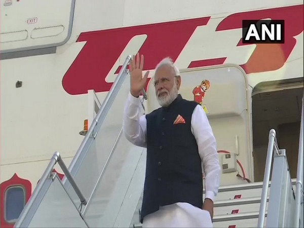 Prime Minister Narendra Modi emplaning for New Delhi from New York on Friday (Photo/ANI)