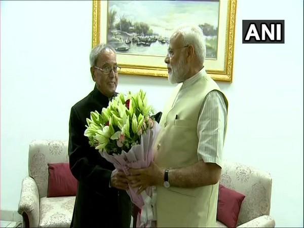 Prime Minister Narendra Modi met former President Pranab Mukherjee in New Delhi on Tuesday
