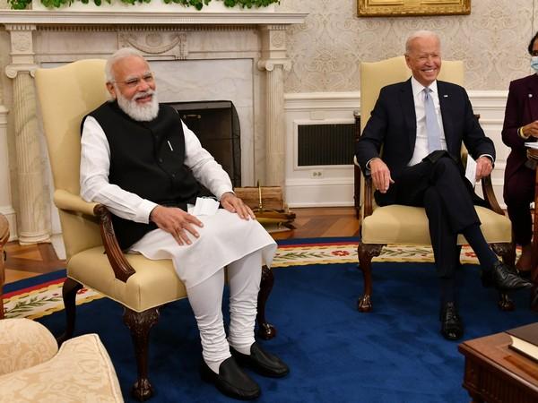 Prime Minister Narendra Modi with US President Joe Biden
