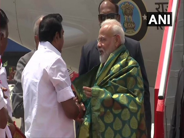 Prime Minister Narendra Modi arrived in Chennai on Friday for Second Informal Summit with Chinese President Xi Jinping (Photo/ANI)