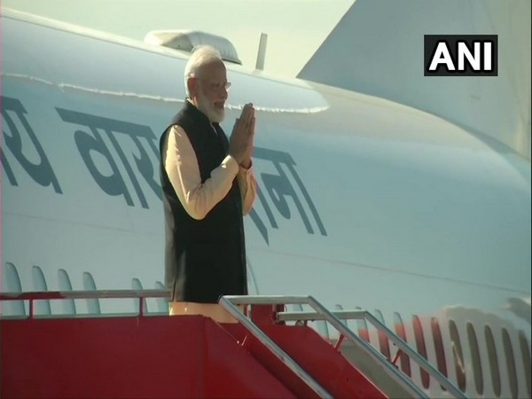 Prime Minister Narendra Modi departing for Delhi from Chennai after the second informal summit on Saturday (Photo/ANI)