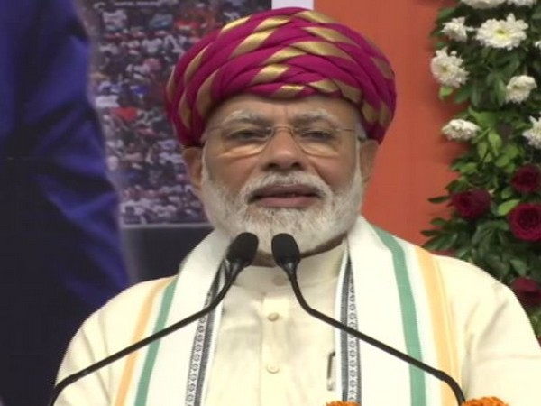 Prime Minister Narendra Modi speaking in Ahmedabad on Wednesday. Photo/ANI