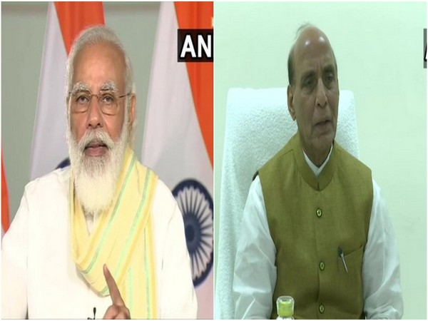 Prime Minister Narendra Modi (left) and Defence Minister Rajnath Singh (right) (File Photo/ANI)