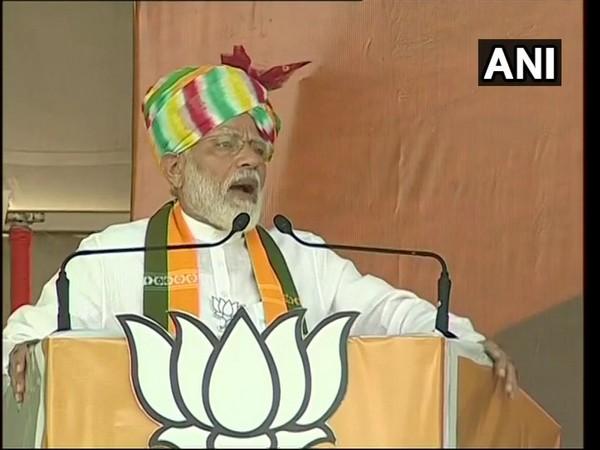 Prime Minister Narendra Modi addressing election rally in Rewari on Saturday