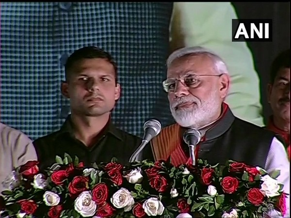 After a Prime Minister Narendra Modi addressing a gathering outside Palam airport on his arrival from the US on Saturday.