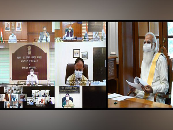Prime Minister Narendra Modi held meeting via video conference. (Photo/ ANI)