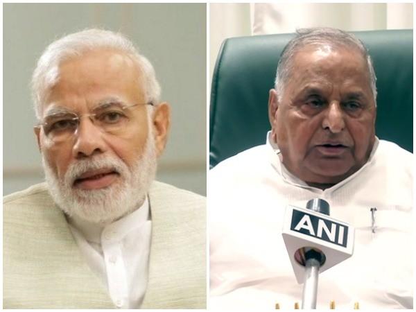 Prime Minister Narendra Modi and Mulayam Singh Yadav