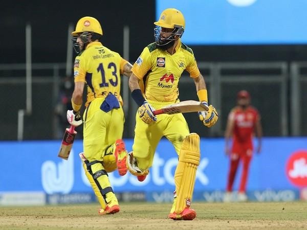 CSK batsman Moeen Ali and Faf du Plessis (Image: BCCI/IPL)