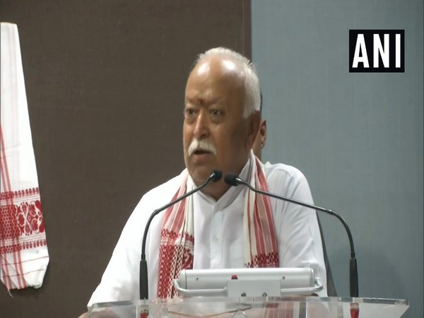 RSS Chief Mohan Bhagwat addressing a programme at Nagpur on Tuesday