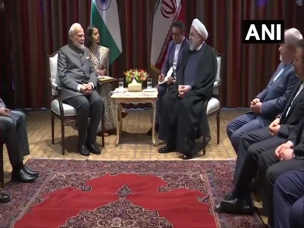 The India-Iran bilateral underway in New York on Thursday (Photo/ANI)