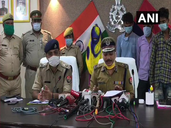 Mohit Agarwal, IG Kanpur Range addressing a press conference in Kanpur on Friday. [Photo/ANI]