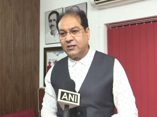 Uttar Pradesh Minority Welfare Minister Mohsin Raza talking to ANI in Lucknow on Saturday. Photo/ANI