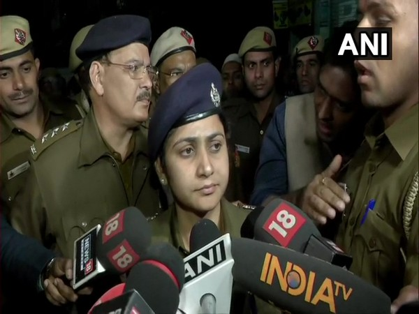 North Delhi DCP Monika Bhardwaj speaking to reporters in New Delhi on Sunday.