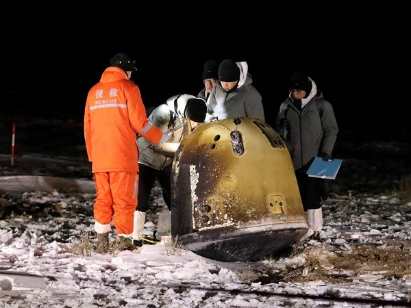 Moon samples collected by China's Chang'e-5 probe (Photo Credit - Reuters)