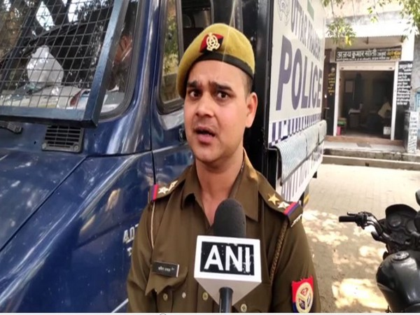 Moradabad Inspector Sachin Dayal speaking to ANI on Wednesday [Photo/ANI]
