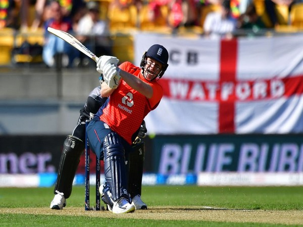 England skipper Eoin Morgan in action against New Zealand (Photo/ ICC Twitter)
