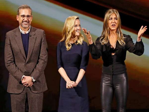 The cast of 'The Morning Show' -- Steve Carell, Reese Witherspoon, Jennifer Aniston (L to R)