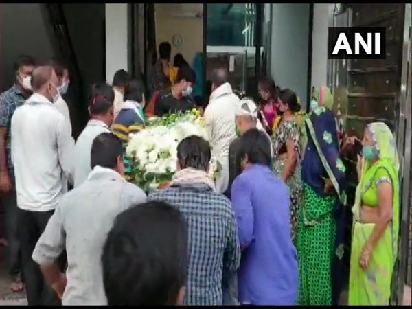 The mortal remains of co-pilot Akhilesh Kumar reached his native place today morning. (Photo/ANI)