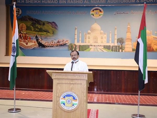 Muraleedharan visits Gulf Medical University in Thumbay Medicity (Photo Credit: Twitter/  V Muraleedharan)