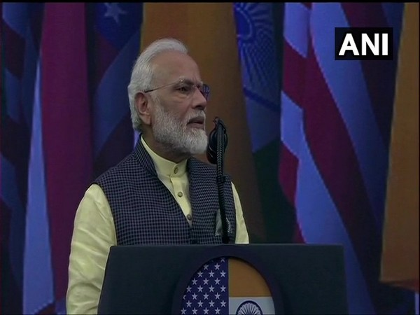 Prime Minister Narendra Modi addressing Howdy Modi! event in Houston on Sunday (Photo/ANI)
