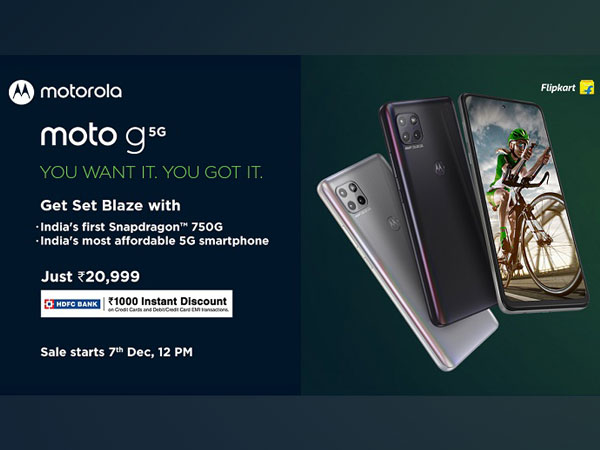 moto G 5G - India's Most Affordable and Truly Future Ready 5G Smartphone with India's First Snapdragon(tm) 750G Goes on Sale on Flipkart