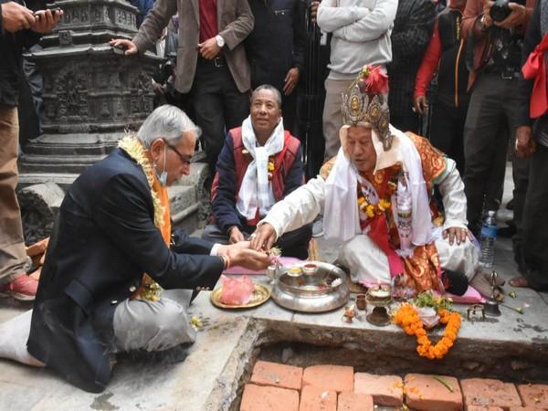 Work starts on restoration of Seto Machindranath temple in Kathmandu (Photo Credit: Twitter/ India in Nepal)